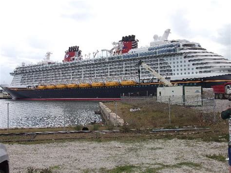 new disney ship leaving port picture of cocoa beach
