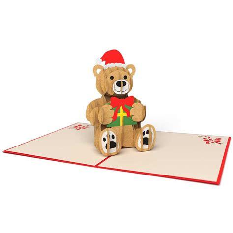 teddy pop up card template free pop up card lovepop