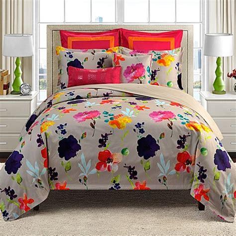 watercolor bedding set merritt watercolor floral reversible comforter set bed