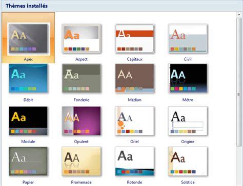 les themes de ppt 2010 powerpoint gestion de la pr 233 sentation