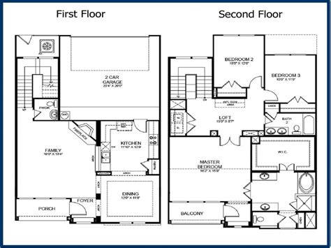 Two Story Two Bedroom House Plans by 2 Story 3 Bedroom Floor Plans 2 Story Master Bedroom
