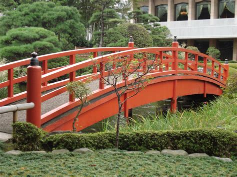 japanese bridges bridge in a japanese garden pics4learning