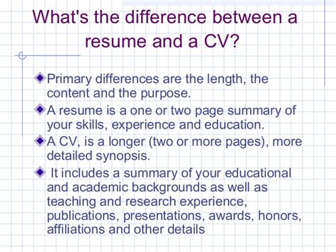 Difference Between Resume And Cv In Canada 100 What S The Difference Between Resume And Cv How To Write A Winning Resume The Difference