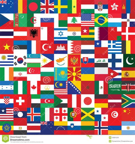 flags of the world wallpaper background made of flag icons stock photos image 32831253