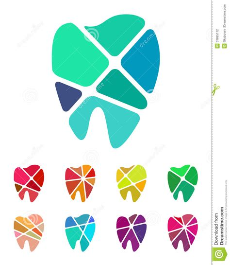 pattern for logo design teeth logo element stock vector image of round