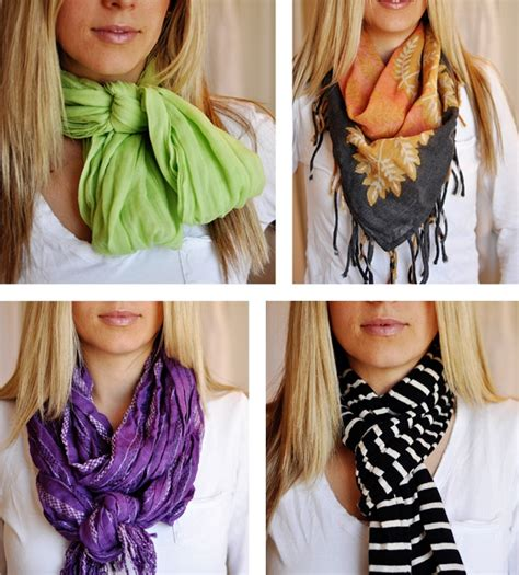 different ways to wear a scarf scarves