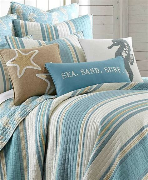 Bedcover California Mukti blue striped bedding quilt set http www