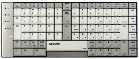 keyboard layout substitutes typematrix usb ez reach keyboard by typematrix