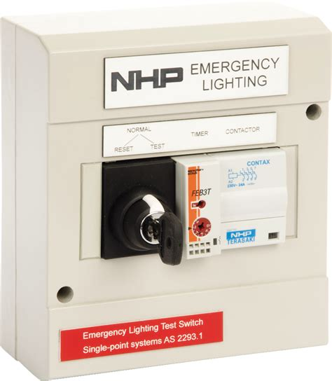 Switch Emergency nhp 4 circuit emergency light test kit with key eltk