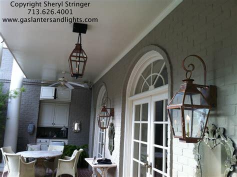Gas Porch Light by Outdoor Lighting Houston Interior Design Company