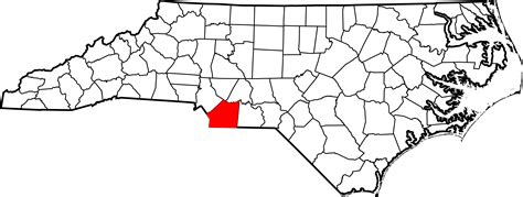 Union County Nc Records File Map Of Carolina Highlighting Union County Svg