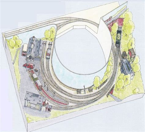 circular layout peco setrack oo plan 8 st ives branch terminus an end to