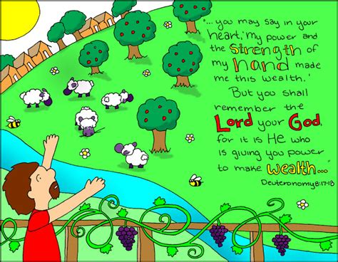 god s doodle the and times doodle through the bible deuteronomy 8 17 18 quot you