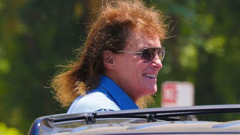 bruce jenner long hair bruce jenner steps out with new even longer hair abc news