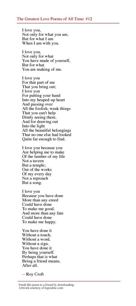 Legendinc.com's Greatest Love Poems Of All Time