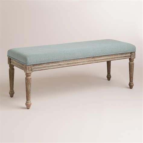 world market bench blue linen paige bench world market
