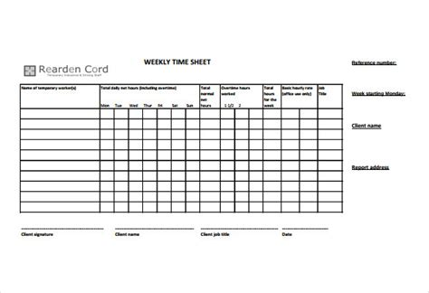 docs template ctime card timesheet templates 35 free word excel pdf documents