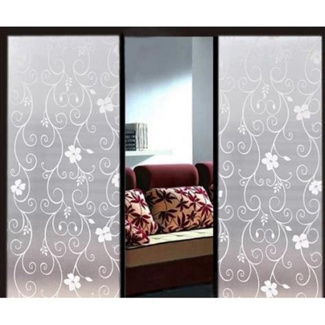 decorative window stickers for home 90cm flower decorative window film self adhesive frosted