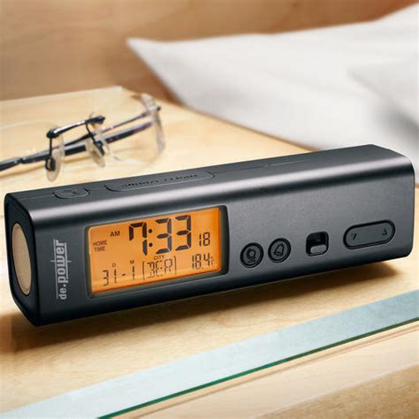 buy 3 in 1 radio controlled travel alarm clock