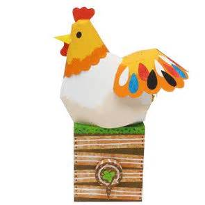 Chicken Papercraft - creative toys and baby on