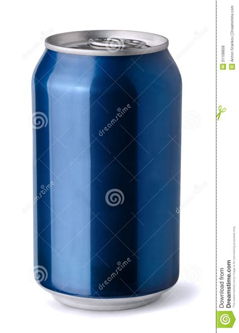 blue i can blue soda can stock photo image of nobody