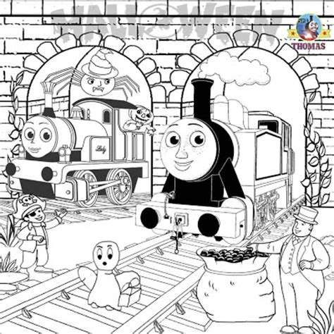 rosie train coloring page free printable halloween ideas kids activities thomas