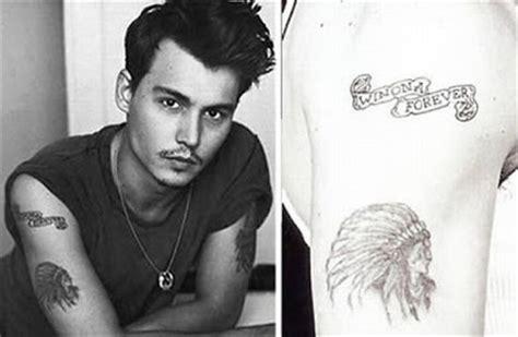 johnny depp indian tattoo celebrity tattoos johnny depp oh tattoo