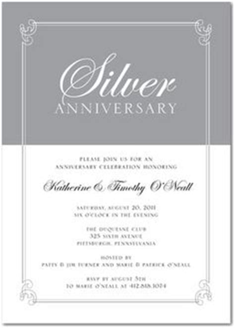 25th anniversary invitation card templates 25th wedding anniversary invitations 25th wedding