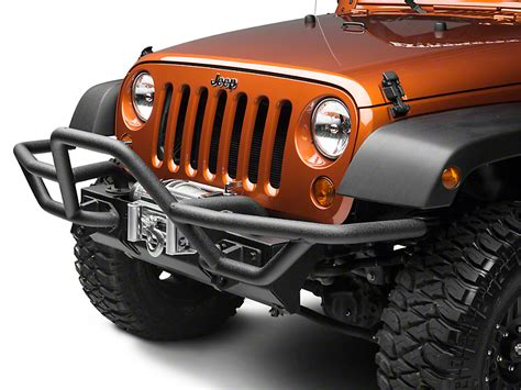 rugged ridge rrc rugged ridge wrangler rrc mount for front xhd bumper w 7 in flares textured black 11540 18 07
