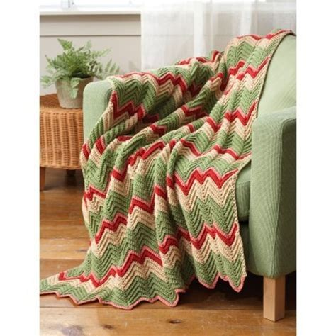 bernat zig zag afghan pattern zig zag afghan in bernat worsted solids downloadable pdf