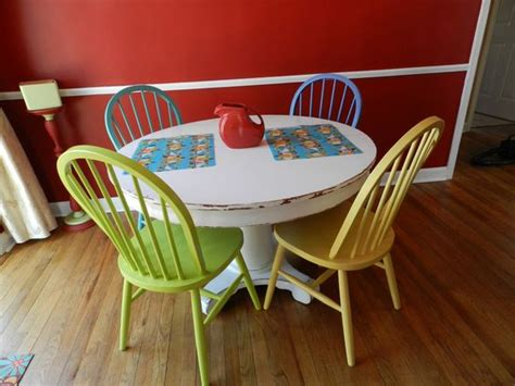 colorful painted chairs multicolored chairs kitchen