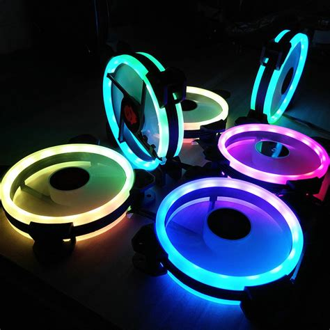 3pcs 120mm adjustable rgb led light computer pc