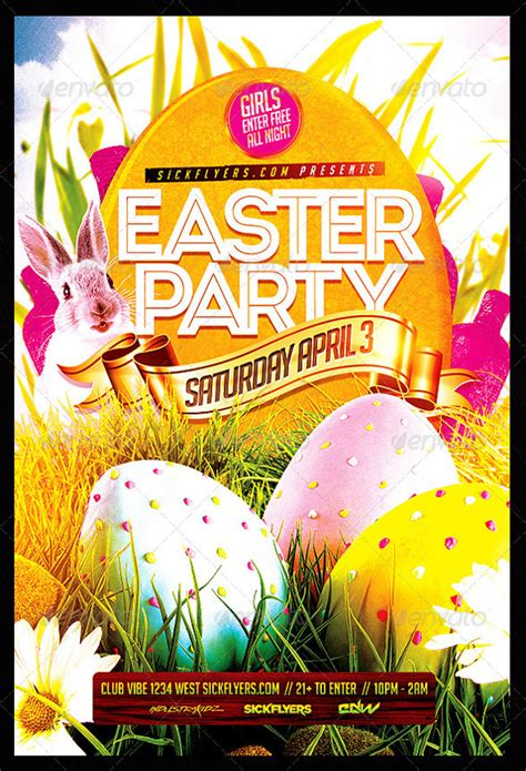 27 easter flyer free psd ai vector eps format