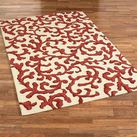 Coral Lagoon Hooked Indoor Outdoor Rugs Coral Indoor Outdoor Rug