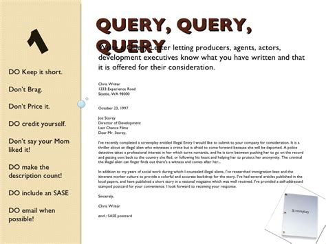 layout of a query letter query letter screenplay choice image download cv letter