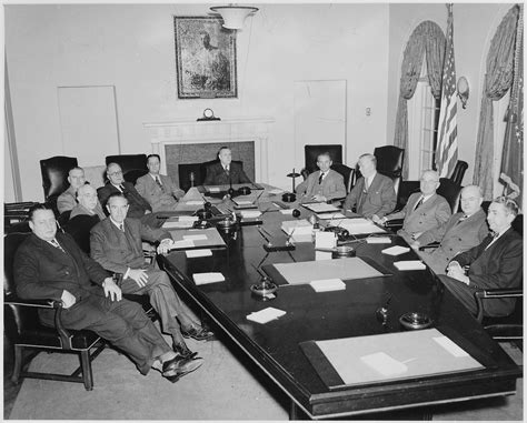 white house cabinet file president truman and his cabinet in the cabinet room of the white house