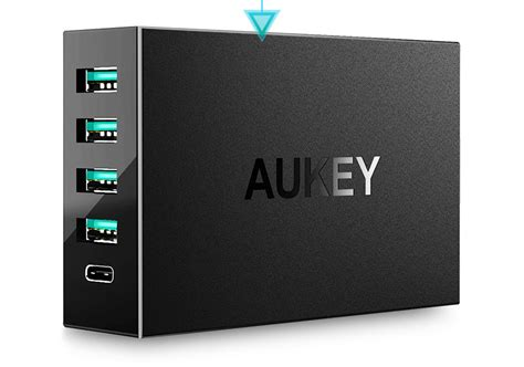 Charger Usb Aukey 2 Port 1 Port Type C 2 4a Qc3 0 Aipower Pa Y4 aukey charger usb 4 port 1 port type c 54w qc3 0 aipower pa y5 black jakartanotebook