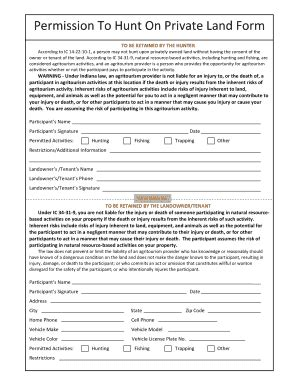 Permission Letter To Hunt On Property Permission Slip Template Sle Permission Letter Sle Permission Letter For Child