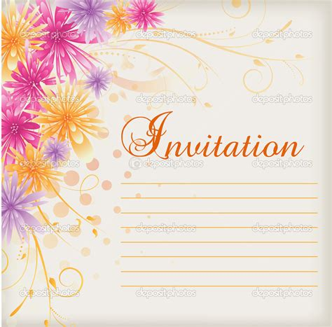 Invitation Card Blank