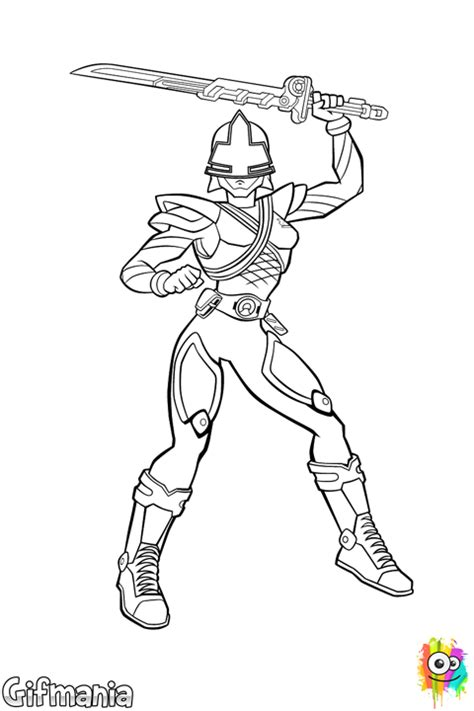 Emily The Yellow Ranger Coloring Page Power Rangers Samurai Coloring Pages