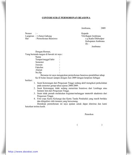 format cv beasiswa contoh surat pengajuan beasiswa arya dwi anggara