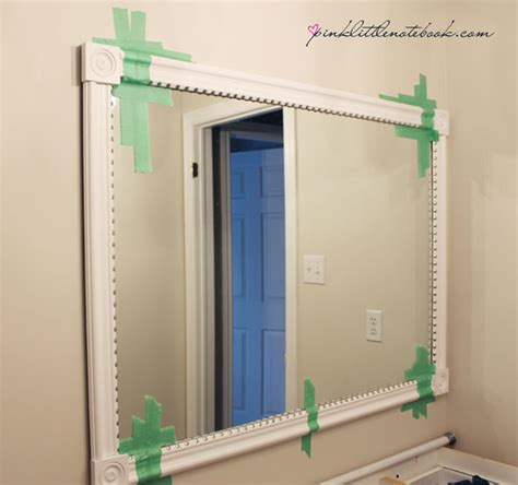 framing out a bathroom mirror how to frame out that builder s grade mirror the easy way