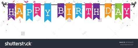 Dijamin Bunting Banner Flag Happy Anniversary bunting flags banner happy birthday letters stock vector