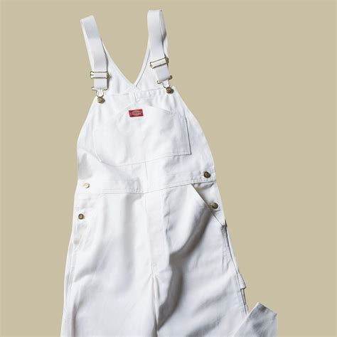 home depot paint jumpsuit dickies relaxed fit 36 32 white painters bib overall