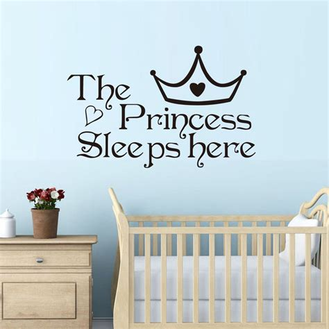 home wall decor stickers aliexpress buy dctop the princess sleep here wall