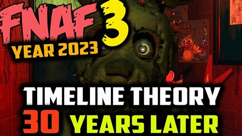 what is years fnaf timeline theory 30 years later year 2023 five nights at freddy s 3 theory