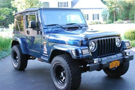 navy blue jeep wrangler 2 door purchase used 2003 jeep wrangler x sport utility 2 door 4