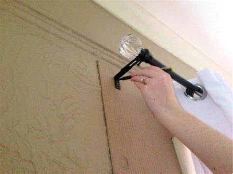 easy way to hang curtain rods well thats a great idea easy way to hang curtain rods house interior designs