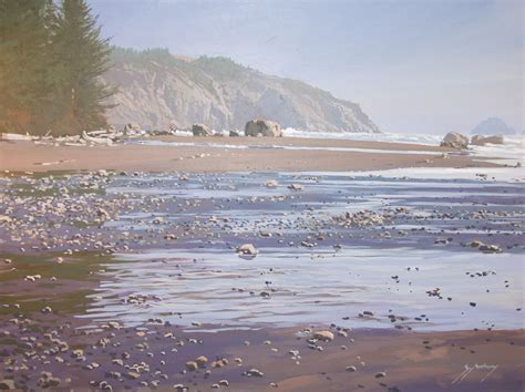 paintings originals for sale low tide oregon coast