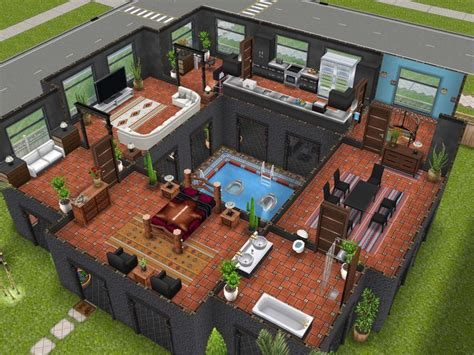 53 Best Images About Sims Freeplay House Ideas On Sims House Plans